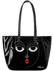 Patent tote bag by Isabel & Ruben Toledo