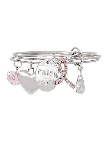 Awareness faith charm bracelet by Lane Bryant