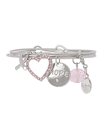 Awareness hope charm bracelet by Lane Bryant