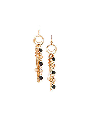 Bead & chain earrings by Lane Bryant