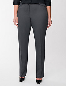 Sophie Tailored Stretch birdeye pant by LANE BRYANT