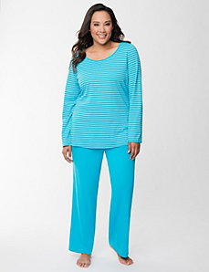 Metallic stripe PJ set by LANE BRYANT