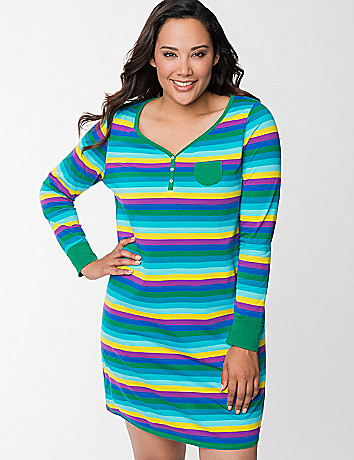 Striped sleep shirt