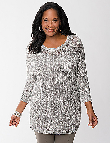 Sweater tunic with pocket