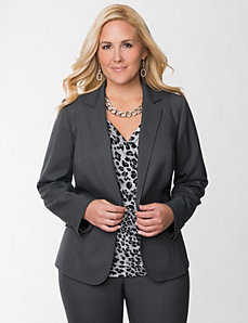 Tailored Stretch textured suit jacket by LANE BRYANT