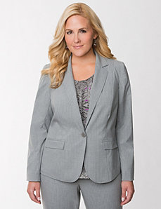 Tailored Stretch pinstripe suit jacket by LANE BRYANT