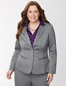 Tailored Stretch pinstripe jacket by LANE BRYANT