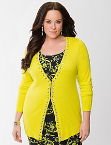 Lane Collection embellished cardigan by LANE BRYANT