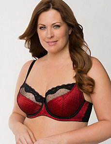 Swiss dot French full coverage bra by LANE BRYANT
