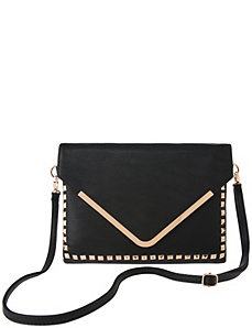 Studded envelope clutch by Lane Bryant