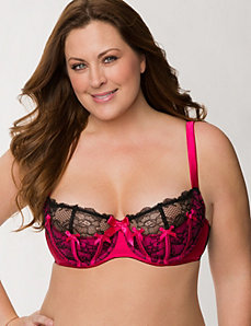 French balconette bra with piping by LANE BRYANT