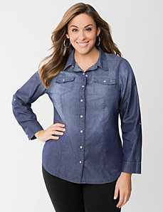 Denim shirt by LANE BRYANT