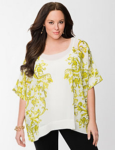Lane Collection scroll drama top by LANE BRYANT