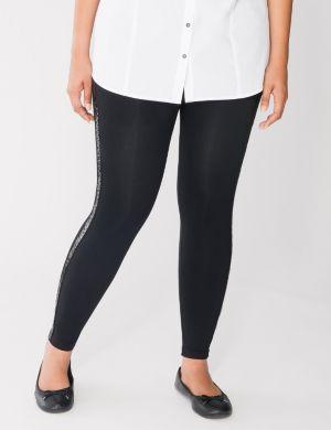 Sequin stripe leggings