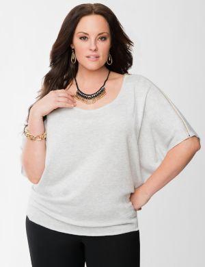 Lane Collection drama sweater