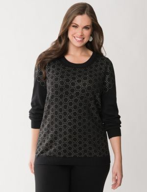 Geo embellished sweater