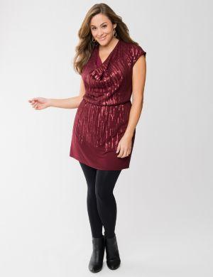 Sequin tunic dress