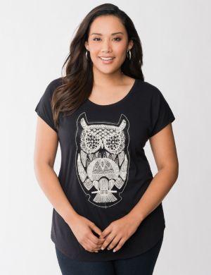 Owl applique tee