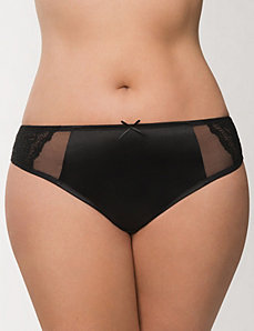 Mesh & lace tanga panty by LANE BRYANT