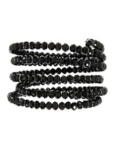 Faceted bead coil bracelet by Lane Bryant