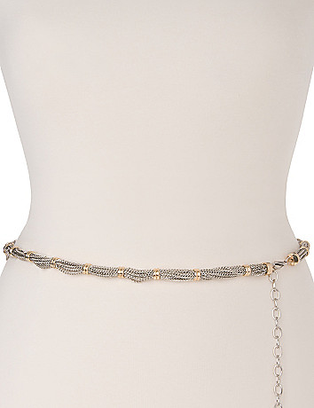 Two tone chain belt