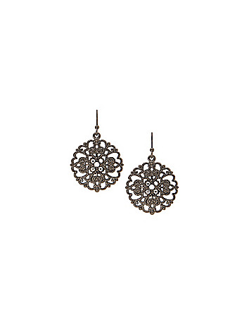 Filigree drop earrings by Lane Bryant