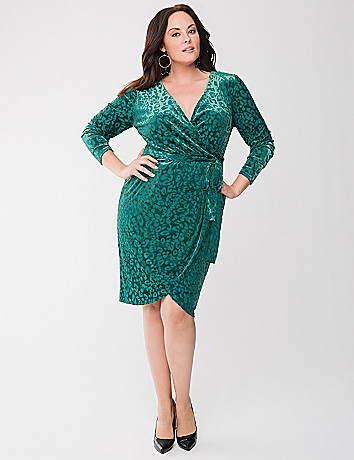 Lane Collection burnout wrap dress