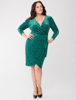 Lane Collection burnout wrap dress