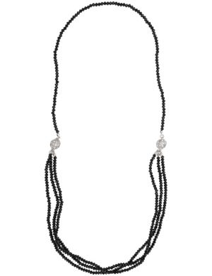 Beaded necklace with fireballs by Lane Bryant