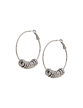 Rondelle hoop earrings by Lane Bryant