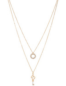 Ring & key necklace duo by Lane Bryant by LANE BRYANT