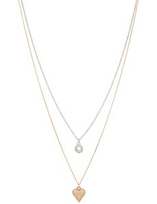 Heart & circle necklace duo by Lane Bryant