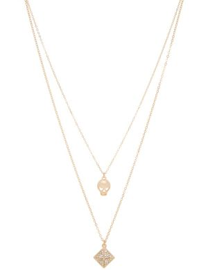 Skull & pyramid necklace duo by Lane Bryant
