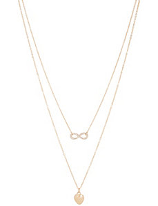 Heart & infinity necklace duo by Lane Bryant by LANE BRYANT