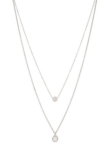 Bezel rhinestone necklace duo by Lane Bryant