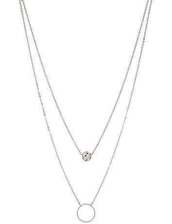 Fireball & circle necklace duo by Lane Bryant