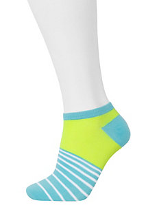 Striped low cut socks 3-pack by LANE BRYANT