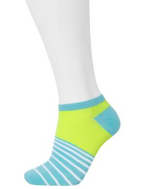 Striped low cut socks 3-pack