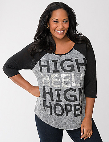 High heels graphic tee