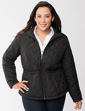 Cinched puffer coat