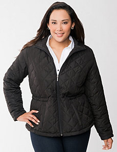 Cinched puffer coat by LANE BRYANT