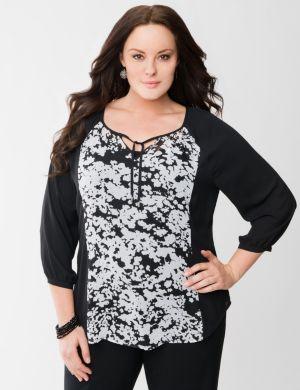 Raglan sleeve peasant blouse