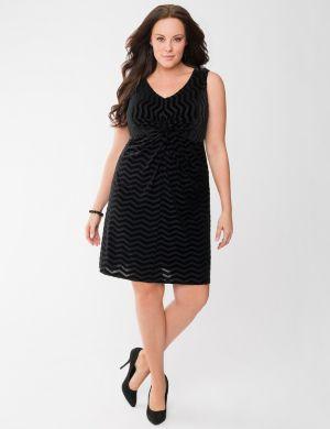Chevron twist front dress