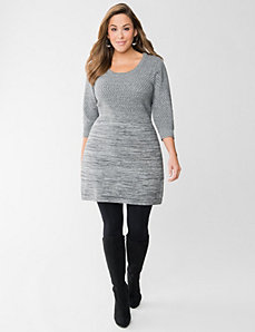 Metallic sweater dress by LANE BRYANT