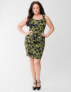 Lane Collection printed sheath dress