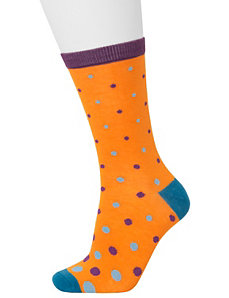 Dots & solid crew sock 2-pack