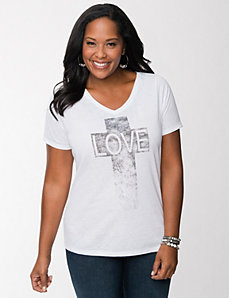 Love cross tee by LANE BRYANT