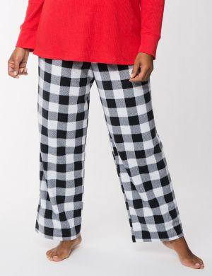 Checkered fleece sleep pant