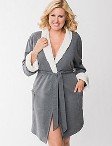 Shawl collar robe by LANE BRYANT