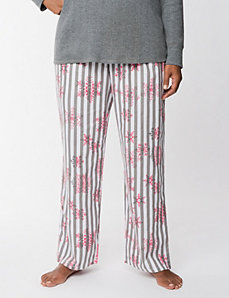 Snowflake twill sleep pant by LANE BRYANT